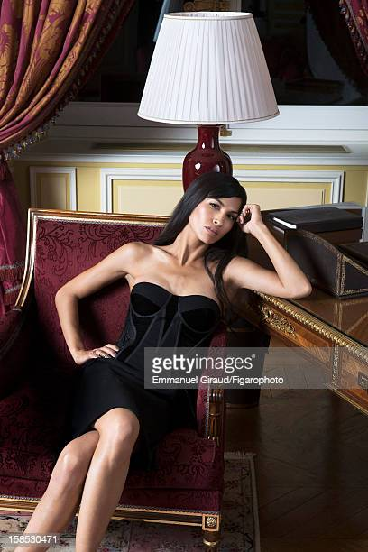 Figaro ID 105117002 Actress Elodie Yung is photographed for Madame Figaro on October 9 2012 in Paris France PUBLISHED IMAGE Dress by Bottega Veneta...