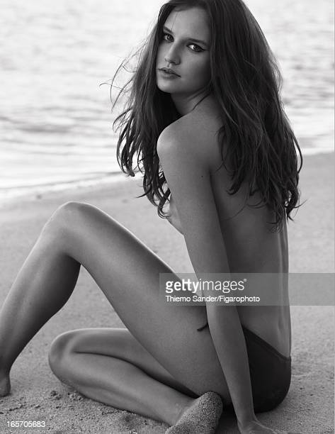 Figaro ID 105325018 Model Alina Ilie poses at a beauty shoot for Madame Figaro on November 29 2012 in Port Louis Mauritius Beauty treatment by Sisley...