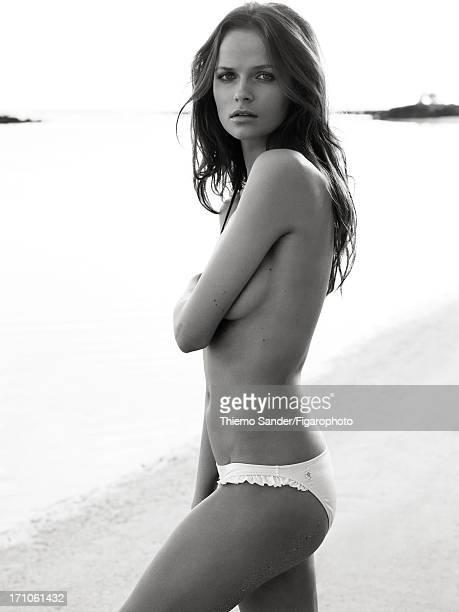 Figaro ID 105325045 Model Yuliya Pauliukevich poses at a beauty shoot for Madame Figaro on June 14 2013 in Port Louis Mauritius Bikini bottoms Makeup...