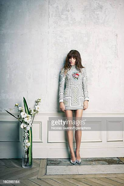 Figaro ID 105335002 Model Lou Doillon is photographed for Madame Figaro on November 13 2012 in Paris France PUBLISHED IMAGE Dress by Balmain shoes by...