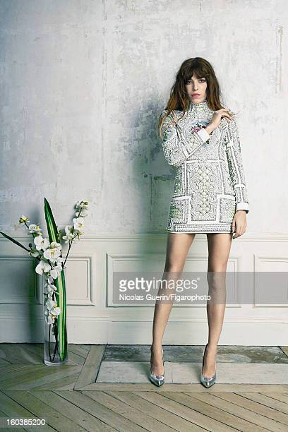 Figaro ID 105335008 Model Lou Doillon is photographed for Madame Figaro on November 13 2012 in Paris France COVER IMAGE Dress by Balmain shoes by...