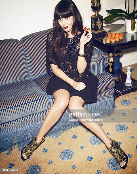 Figaro ID 105403007 Singer Nolwenn Leroy is photographed for Madame Figaro on December 7 2012 in Paris France PUBLISHED IMAGE Dress by Manoush cuff...