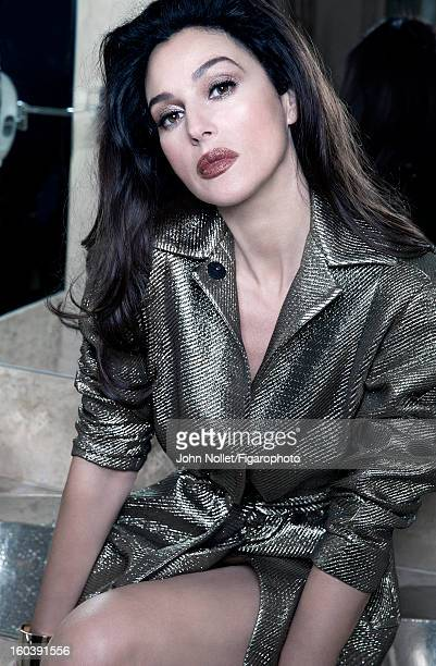 Figaro ID 105535008 Actress Monica Bellucci is photographed for Madame Figaro on December 1 2012 in Marrakech Morocco Trench by Diane Von Furstenberg...