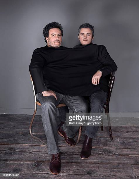 Figaro ID 105812005 Directors and brothers Arnaud Larrieu and JeanMarie Larrieu are photographed for Madame Figaro on January 17 2013 in Paris France...