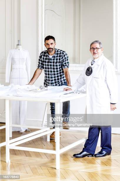 Figaro ID 105895003 Fashion designer Riccardo Tisci and Monsieur Richard for Givenchy are photographed for Madame Figaro on January 30 2013 in Paris...