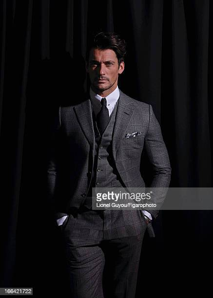 Figaro ID 105950002 Model David Gandy poses for Madame Figaro on February 28 2013 in London England Three piece suit shirt and tie bracelet PUBLISHED...