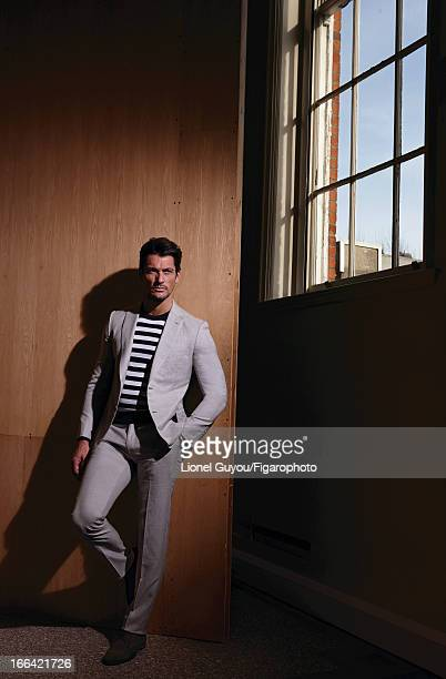 Figaro ID 105950003 Model David Gandy poses for Madame Figaro on February 28 2013 in London England Suit sweater shoes watch PUBLISHED IMAGE CREDIT...