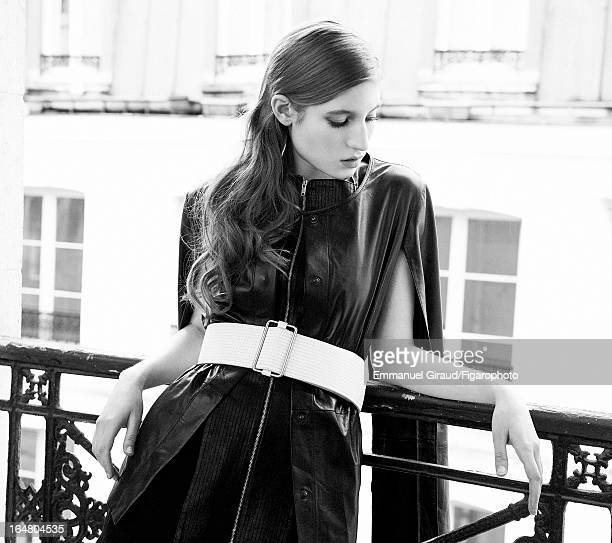 Figaro ID 105982008 Actress Agathe Bonitzer is photographed for Madame Figaro on February 1 2013 in Paris France Cape and belt earrings CREDIT MUST...