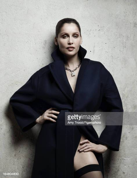Figaro ID 106050011 Model Laetitia Casta poses for Madame Figaro on February 13 2013 in Paris France Coat necklace from the Lockit collection...