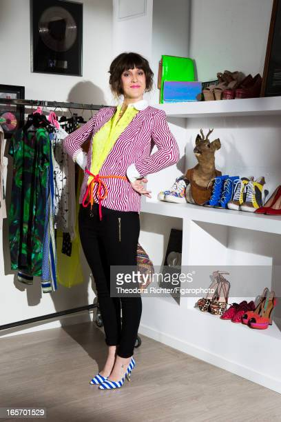 Figaro ID 106091009 TV host Daphne Burki is photographed for Madame Figaro on February 19 2013 in Paris France Shirt blazer pants belt earrings...