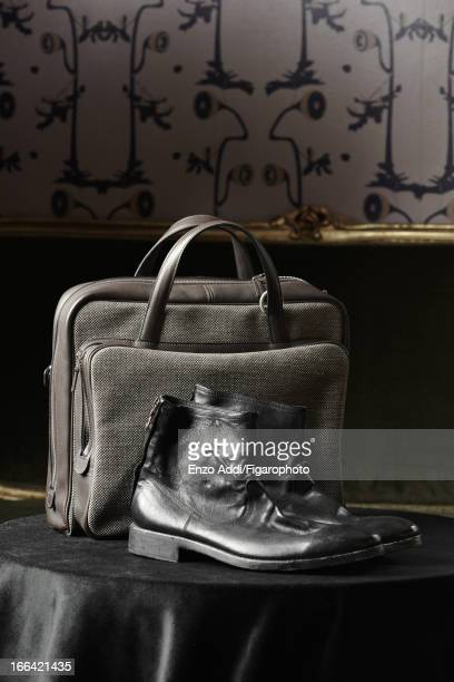 Figaro ID 106153005 Singer/songwriter Alex Beaupain's style inspirations are photographed for Madame Figaro on February 19 2013 in Paris France Bag...