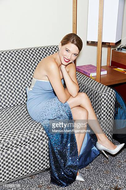 Figaro ID 106430002 Actress Lea Seydoux is photographed for Madame Figaro on May 18 2013 at the Cannes Film Festival in Cannes France Dress and...