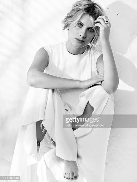 Figaro ID 106580018 Actress Melanie Laurent is photographed for Madame Figaro on April 9 2013 in Paris France Dress ring Makeup by Dior PUBLISHED...