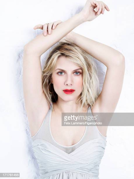 Figaro ID 106580019 Actress Melanie Laurent is photographed for Madame Figaro on April 9 2013 in Paris France Dress earrings ring Makeup by Dior...