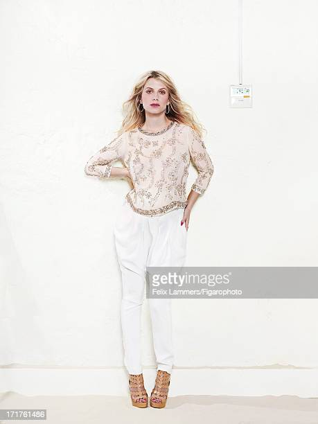 Figaro ID 106580023 Actress Melanie Laurent is photographed for Madame Figaro on April 9 2013 in Paris France Top pants earrings ring shoes Makeup by...