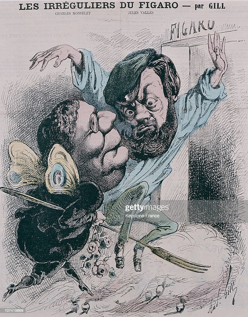 Figaro S Caricatures In 1868 : News Photo
