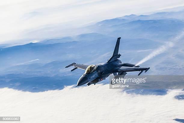 Figher jet in flight