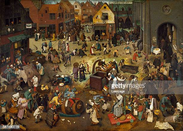 Fight between Carnival and Lent, 1559 by Pieter Bruegel the Elder - 26.5x39.4 cms - Kunsthistorisches Museum, Vienna, Austria