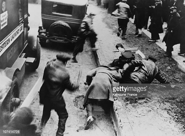 Fight Between The Communists And The Policemen In Chicago On January 27Th 1933