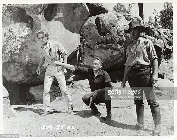 A fight is starting between Dick Marston and the tough Burke Captain Starlight right tells Dick's brother Jim not to interfere Robbery Under Arms...