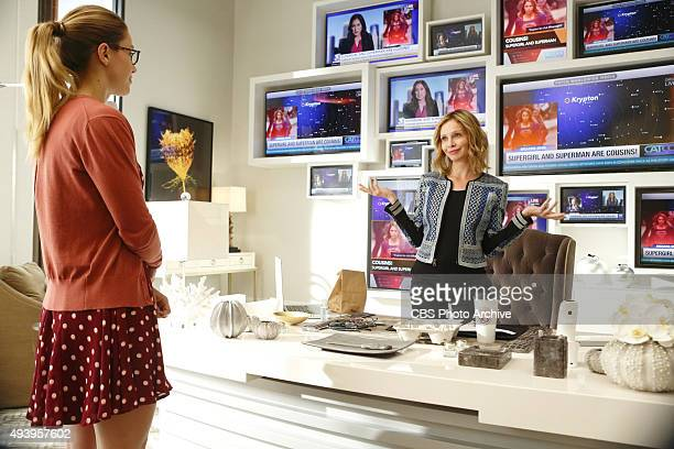 'Fight or Flight' Cat plans to run an exposé on Supergirl on SUPERGIRL Monday Nov 9 on the CBS Television Network Pictured left to right Melissa...