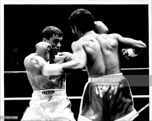 Fight Sydney Entertainment Centre Jeff Fenech vs Victor Callejas***** American referee Richard Steele after 1min 21s of the 10th round of the...