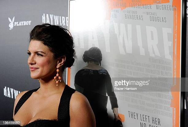 """Fighter / Actress Gina Carano arrives at Relativity Media's premiere of """"Haywire"""" co-hosted by Playboy held at DGA Theater on January 5, 2012 in Los..."""