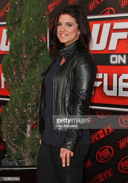 Fighter / Actress Gina Carano arrives at the UFC on FOX: live Heavyweight Championship fight at Honda Center on November 12, 2011 in Anaheim,...