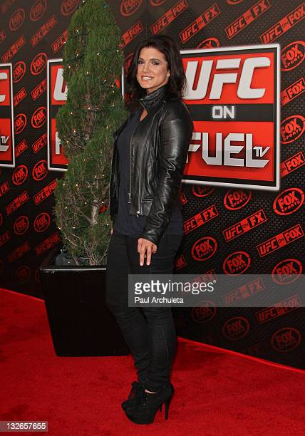 Fighter / Actress Gina Carano arrives at the UFC on FOX live Heavyweight Championship fight at Honda Center on November 12 2011 in Anaheim California