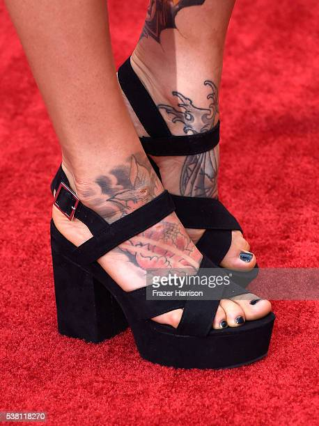 MMA fighter Anastasia Yankova shoe and tattoo detail attends Spike TV's 10th Annual Guys Choice Awards at Sony Pictures Studios on June 4 2016 in...