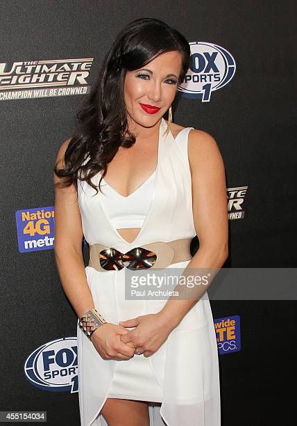 Fighter Angela Magana attends FOX Sports 1's The Ultimate Fighter season premiere party at Lure on September 9 2014 in Hollywood California