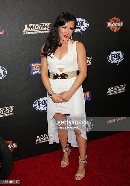 Fighter Angela Magana attends FOX Sports 1's 'The Ultimate Fighter' season premiere party at Lure on September 9 2014 in Hollywood California