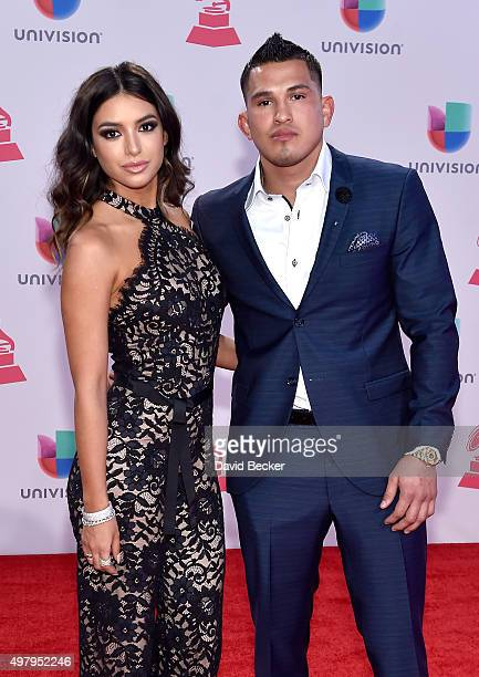 MMA fighter Anthony Pettis attends the 16th Latin GRAMMY Awards at the MGM Grand Garden Arena on November 19 2015 in Las Vegas Nevada