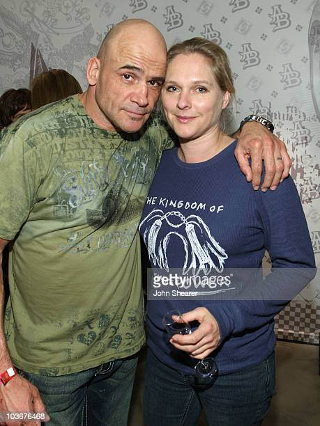 Fighter Bas Rutten and guest attend the launch of La La Land by Anchor Blue on the 3rd Street Promenade on November 16 2007 in Santa Monica California