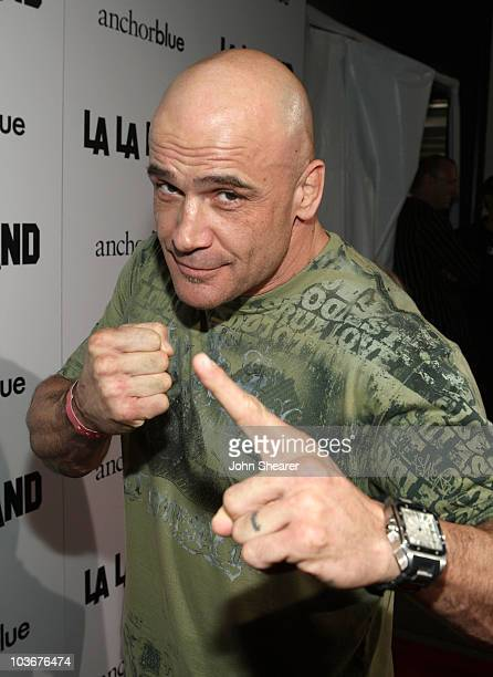 Fighter Bas Rutten attends the launch of La La Land by Anchor Blue on the 3rd Street Promenade on November 16 2007 in Santa Monica California