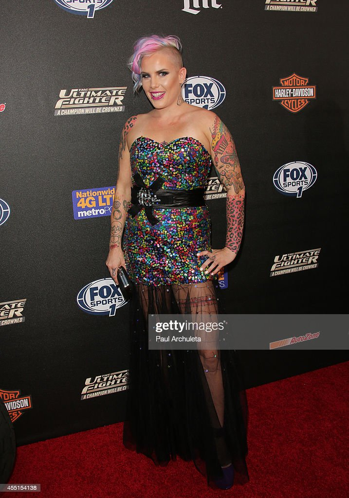 Fighter Bec Rawlings attends FOX Sports 1's 'The Ultimate Fighter' season premiere party at Lure on September 9, 2014 in Hollywood, California.