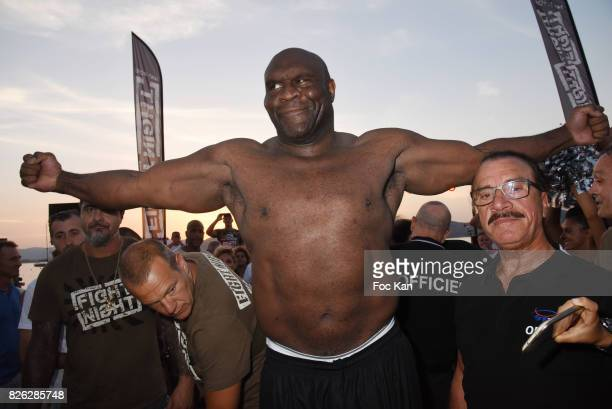 Fighter Bob Sapp from USA attends the Fight Night Weighing Party at La Bouillabaisse Saint Tropez on August 3 2017 in SaintTropez France