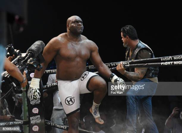 Fighter Bob Sapp performs during the Fight Night Gala at La Citadelle de Saint Tropez on August 4 2017 in SaintTropez France
