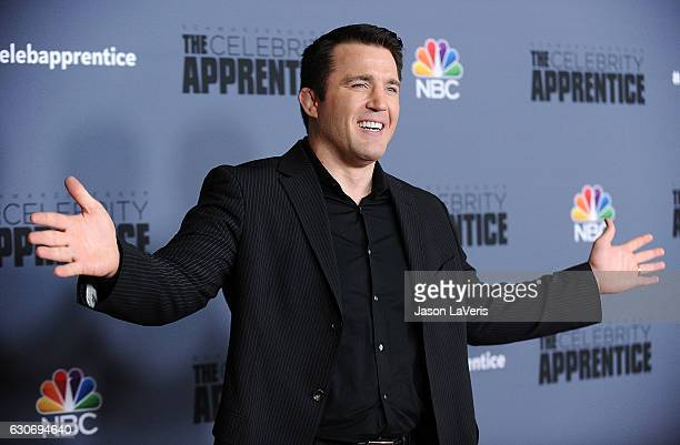 MMA fighter Chael Sonnen attends the press junket For NBC's Celebrity Apprentice at The Fairmont Miramar Hotel Bungalows on January 28 2016 in Santa...