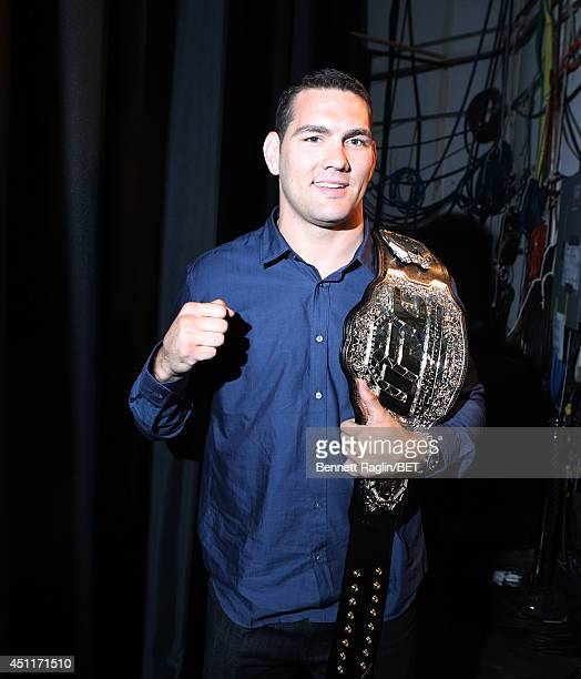 Fighter Chris Weidman visits 106 & Park at BET studio on June 23, 2014 in New York City.