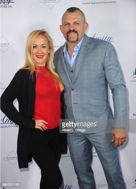 Fighter Chuck Liddell and wife Heidi Northcott attend A Children's Miracle Holiday Sponsored by Amity Medical Group and Vitamin Patch Club in...