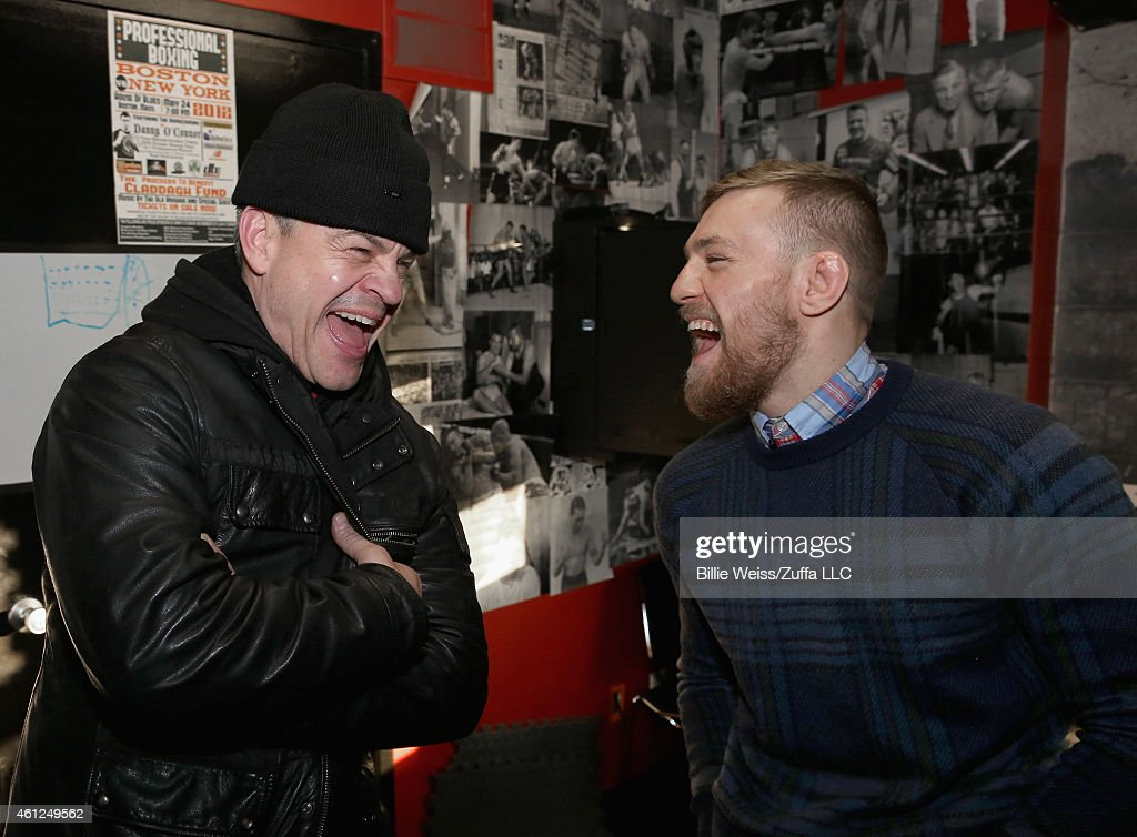 Ufc Fighter Conor Mcgregor Laughs With Gym Owner Peter