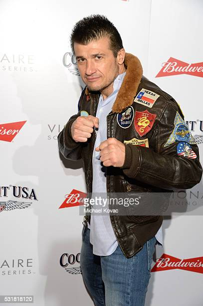 Fighter Danny Musico attends Cockpit USA Budweiser Private 30th Anniversary Screening Of 'Top Gun' at The London Hotel on May 16 2016 in West...