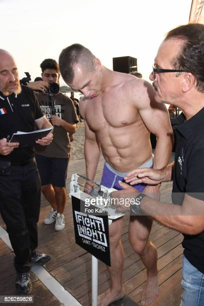 Fighter Evgeny Kuravskoi from Russia attends the Fight Night Weighing Party at La Bouillabaisse Saint Tropez on August 3 2017 in SaintTropez France