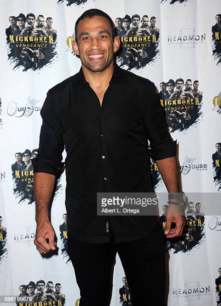 Fighter Fabricio Werdum arrives for the Premiere Of RLJ Entertainment's Kickboxer Vengeance held at iPic Theaters on August 31 2016 in Los Angeles...