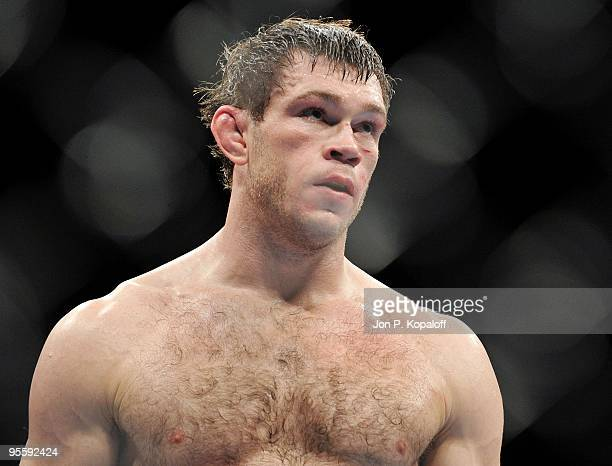 Fighter Forrest Griffin after finishing the first round against UFC fighter Tito Ortiz during their Light Heavyweight Fight at UFC 106: Ortiz vs....