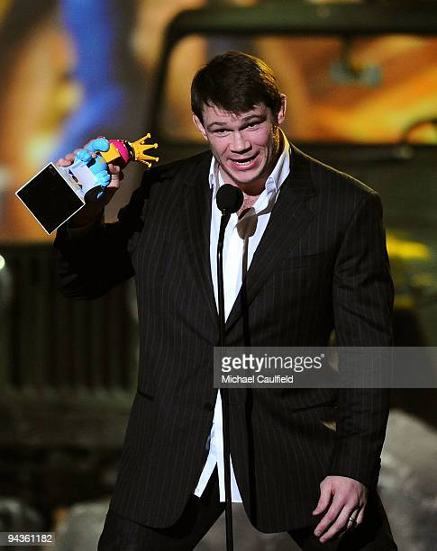 Fighter Forrest Griffin speaks onstage at Spike TV's 7th Annual Video Game Awards at the Nokia Event Deck at LA Live on December 12, 2009 in Los...