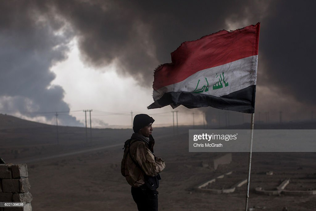 Civilians Return To Recently Liberated Towns South Of Mosul : News Photo