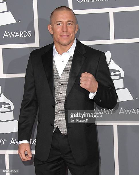 UFC MMA fighter George StPierre arrives at the 51st Annual Grammy Awards at the Staples Center on February 8 2009 in Los Angeles California