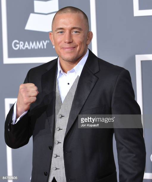 MMA fighter George StPierre arrives at the 51st Annual Grammy Awards at the Staples Center on February 8 2009 in Los Angeles California